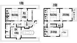 [一戸建] 兵庫県川西市清流台 の賃貸【/】の間取り