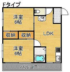 まつよしマンション[4階]の間取り