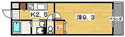 大阪府枚方市渚東町の賃貸アパートの間取り