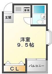 レバンガ江坂アパートメント[8階]の間取り