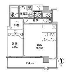 MJR堺筋本町タワー 30階1SLDKの間取り
