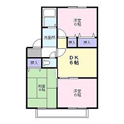 兵庫県加古川市加古川町河原の賃貸アパートの間取り