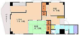 鶴田ビル[3階]の間取り