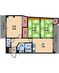 阪神ハイグレードマンション1番館[10階]の間取り