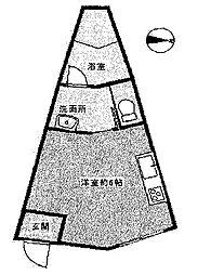 サンロイヤル霞ヶ丘[2階]の間取り