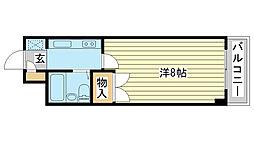 ジュネス姫路II[5階]の間取り