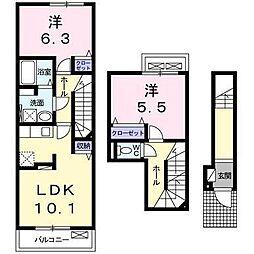 シャルム メゾンB[2階]の間取り