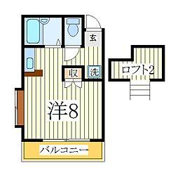 江戸川台カサベラ五番館[1階]の間取り