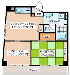 メゾンドール新代田[4階]の間取り
