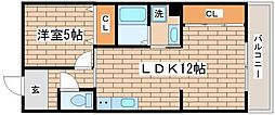 兵庫県神戸市長田区大塚町9丁目の賃貸マンションの間取り
