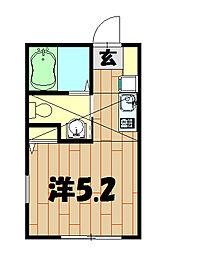 ルミエール桜ヶ丘[201号室]の間取り