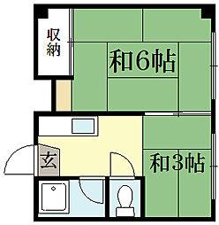 松扇莊[2階]の間取り