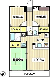 ラフィネ狛江[103号室]の間取り