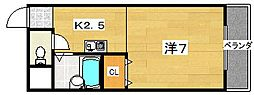 チェリーブロッサム[2階]の間取り