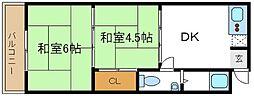 中岡第一マンション[3階]の間取り