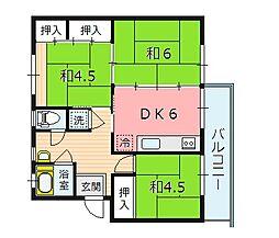 金剛第三住宅215棟[2階]の間取り