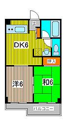 ドムール北浦和[3階]の間取り
