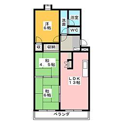 サンライズ千代田[4階]の間取り