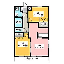 サンプレイス[2階]の間取り