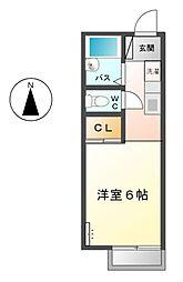 コーポ伊藤[1階]の間取り