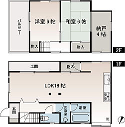 [一戸建] 神奈川県横須賀市長井1丁目 の賃貸【/】の間取り