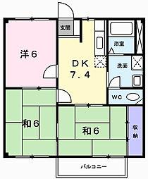 ニューシティK&M[2階]の間取り