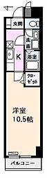アメニティ栄[203号室]の間取り