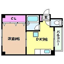 兵庫県神戸市灘区大内通4丁目の賃貸マンションの間取り