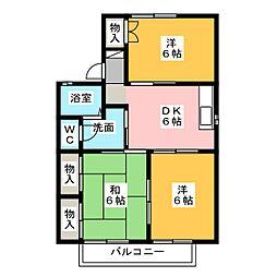 21センチュリーハウスA[2階]の間取り