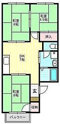 K.レジデンスビューII[2階]の間取り