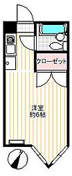 祐天寺グリーンマンション[2階]の間取り