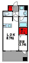 グランフォーレ千早マークスクエア ウエストウイング 4階1LDKの間取り