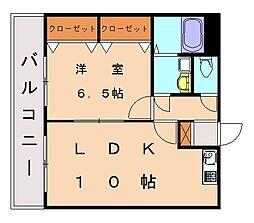 ヴァンクール・トネ[3階]の間取り