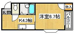 クワイエット赤井[3階]の間取り