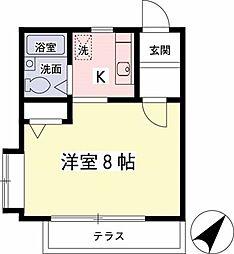タウンハウス菊野台[105号室]の間取り