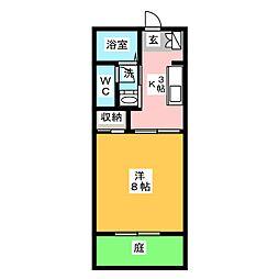 シャルマン山口 B棟[1階]の間取り