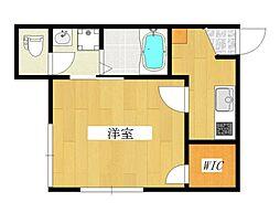 東京都北区堀船1丁目の賃貸アパートの間取り