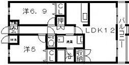 ハーベスト今川2番館[3階]の間取り