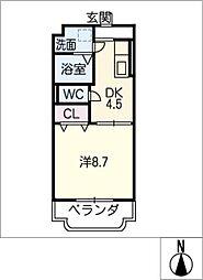 クラスト勝川[4階]の間取り