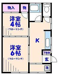 第二稲荷荘[101号室]の間取り