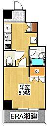 VIVRE横浜白楽弐番館[302号室]の間取り