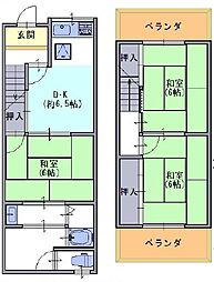 [一戸建] 京都府長岡京市今里薬師堂 の賃貸【/】の間取り