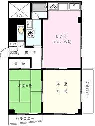 JINマンション[2階]の間取り