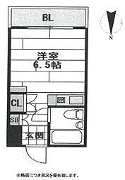 キューブ南塚口II[407号室]の間取り