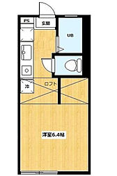神奈川県横浜市西区西戸部町3丁目の賃貸アパートの間取り