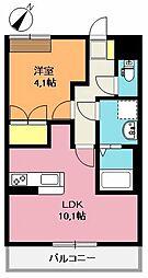 埼玉県上尾市大字地頭方の賃貸アパートの間取り