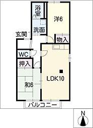 グレイスITO[2階]の間取り