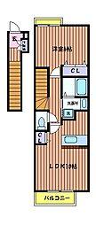 アルカンシエル[2階]の間取り
