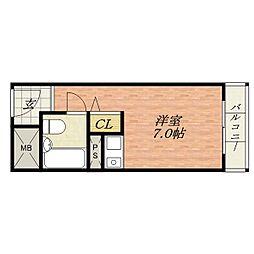 美穂が丘坂田ハイツ[5階]の間取り