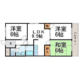 エコロシティ七松II[3階]の間取り